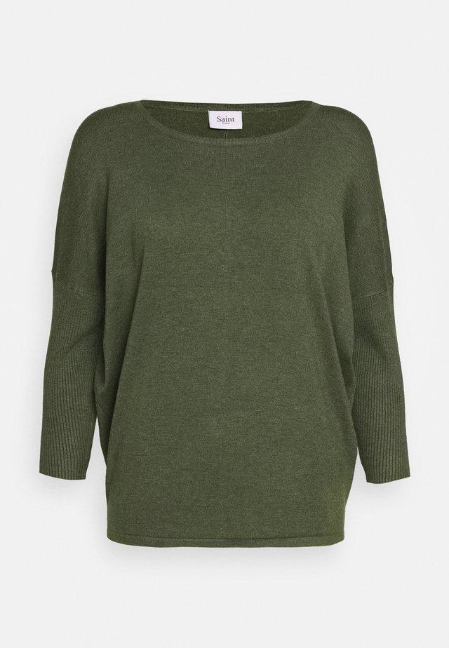 MILA NECK - Jersey de punto - army green melange