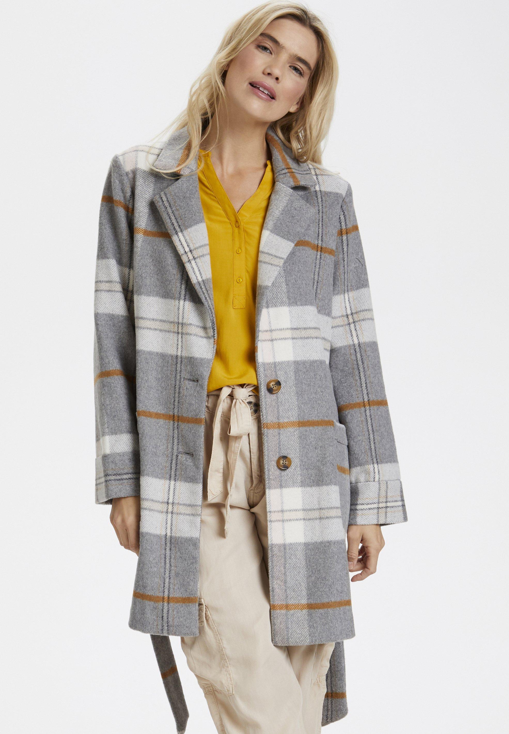 Saint Tropez Krótki płaszcz - grey