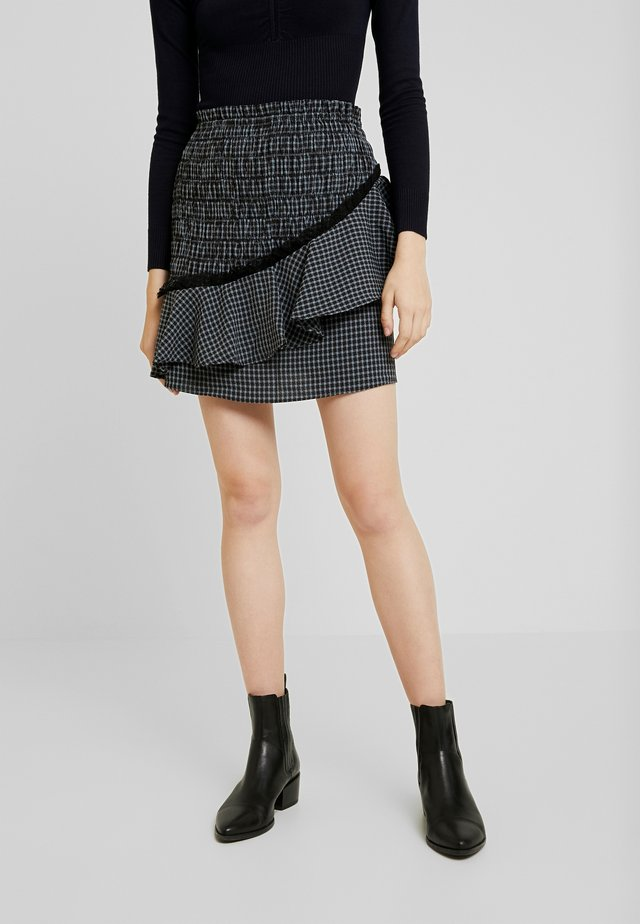 THE TWIST SKIRT - Mini skirt - black