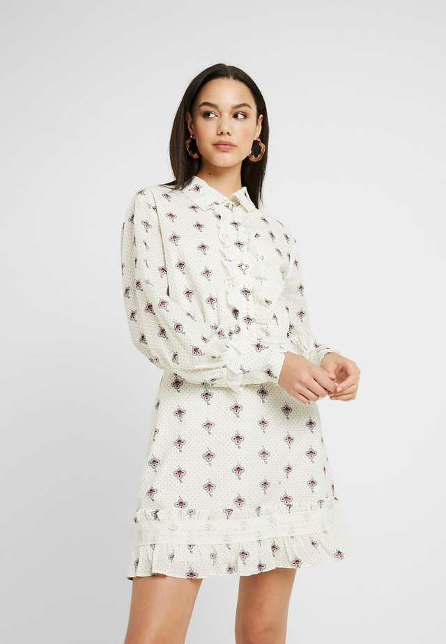 ON EDGE MINI DRESS - Shirt dress - antoinette