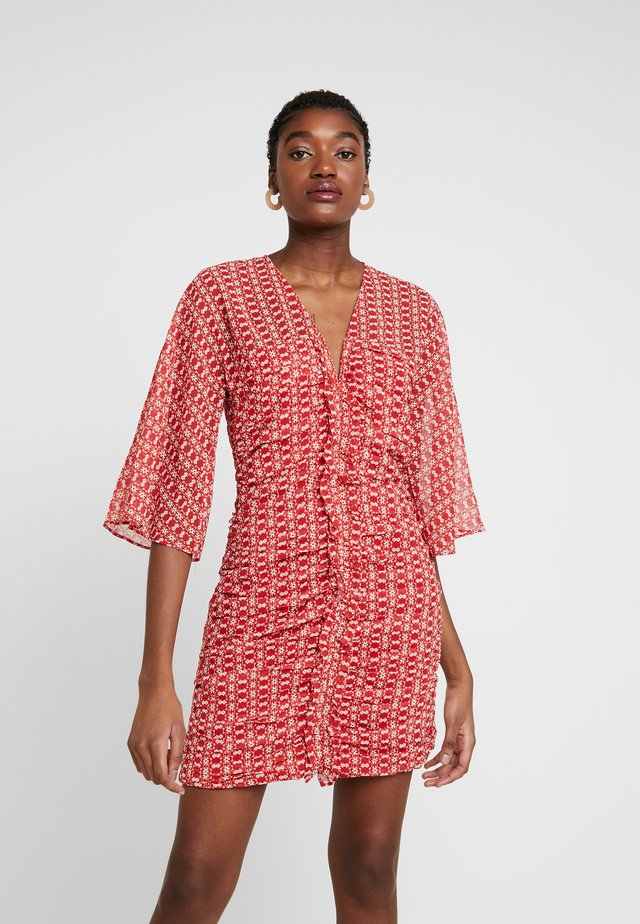 SUNNY AFTERNOON MINI DRESS - Day dress - red