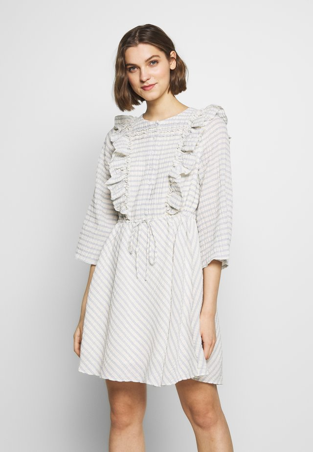 DOLCI MINI DRESS - Korte jurk - blue/natural stripe