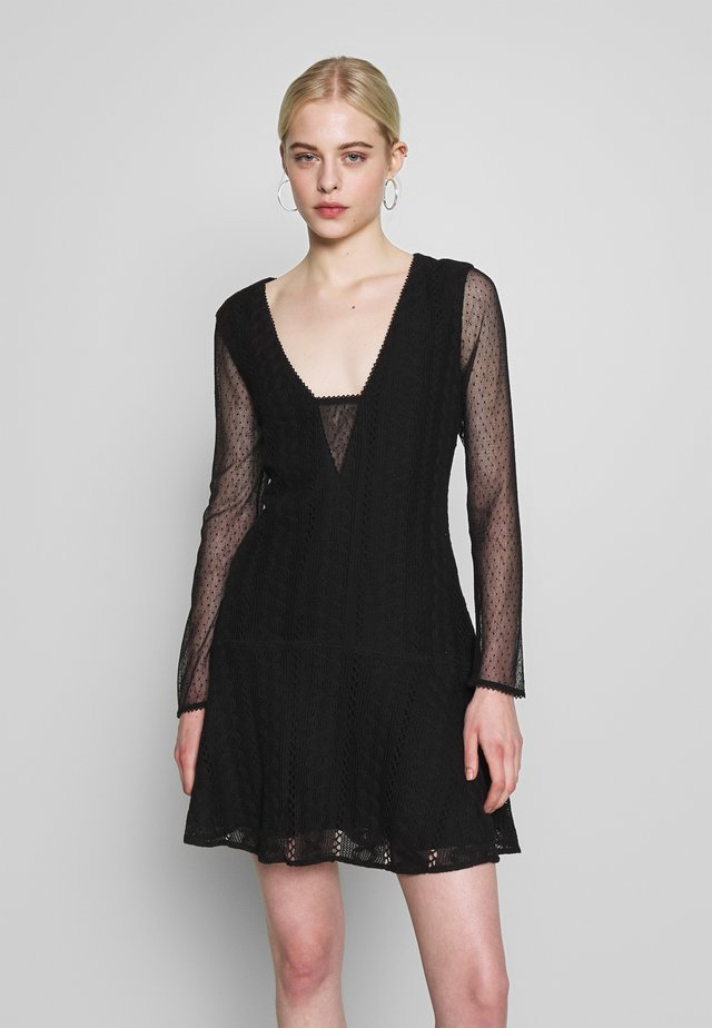 GALLERY MINI DRESS - Korte jurk - black