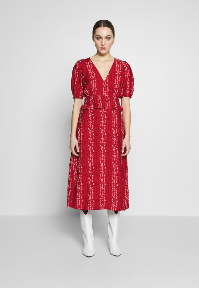 GRACIE MIDI DRESS - Day dress - red