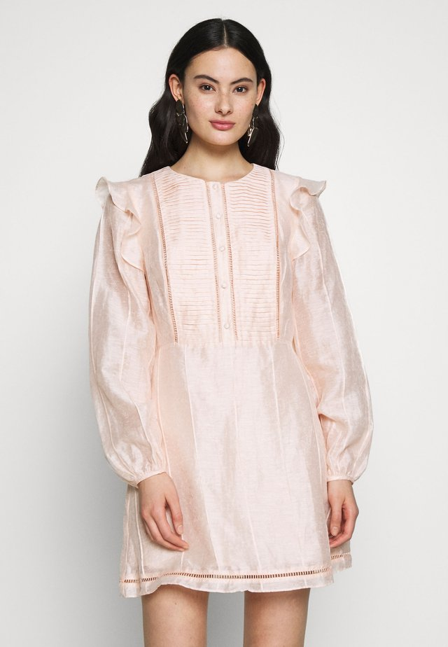 SUNDAY MORNING MINI DRESS - Day dress - peach