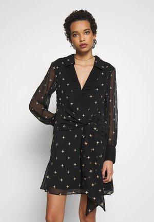 MOONLIGHT MINI DRESS - Day dress - black/diamond embroidery