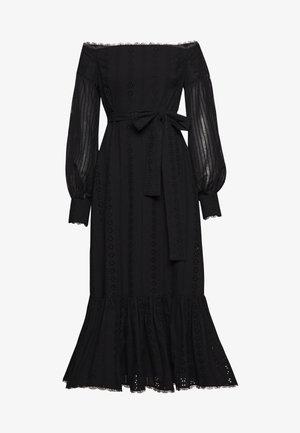 GOOD TIMES MIDI DRESS - Day dress - black anglaise