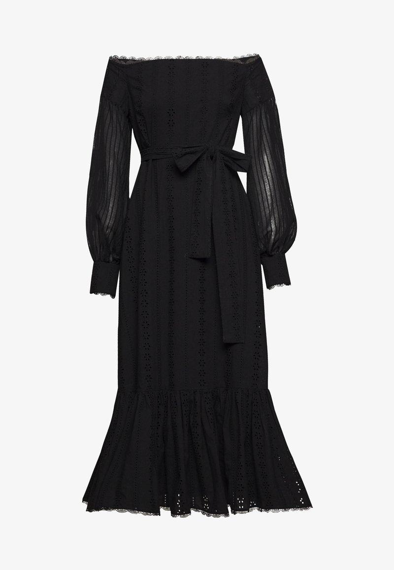 Stevie May - GOOD TIMES MIDI DRESS - Day dress - black anglaise