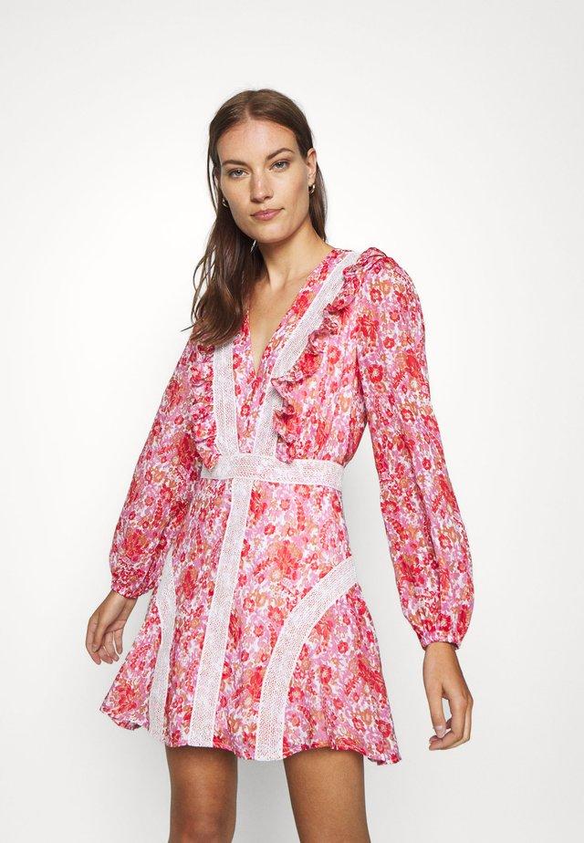 CIRCLES MINI DRESS - Sukienka letnia - red