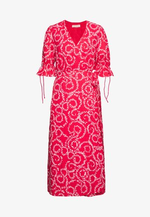 FIRE MIDI DRESS - Day dress - red