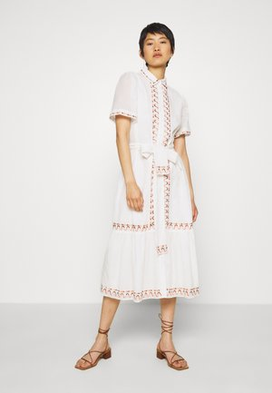 AFTERNOON EMBELLISHMENT - Skjortekjole - off-white