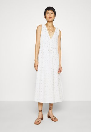 TULLY MIDI DRESS - Denní šaty - white