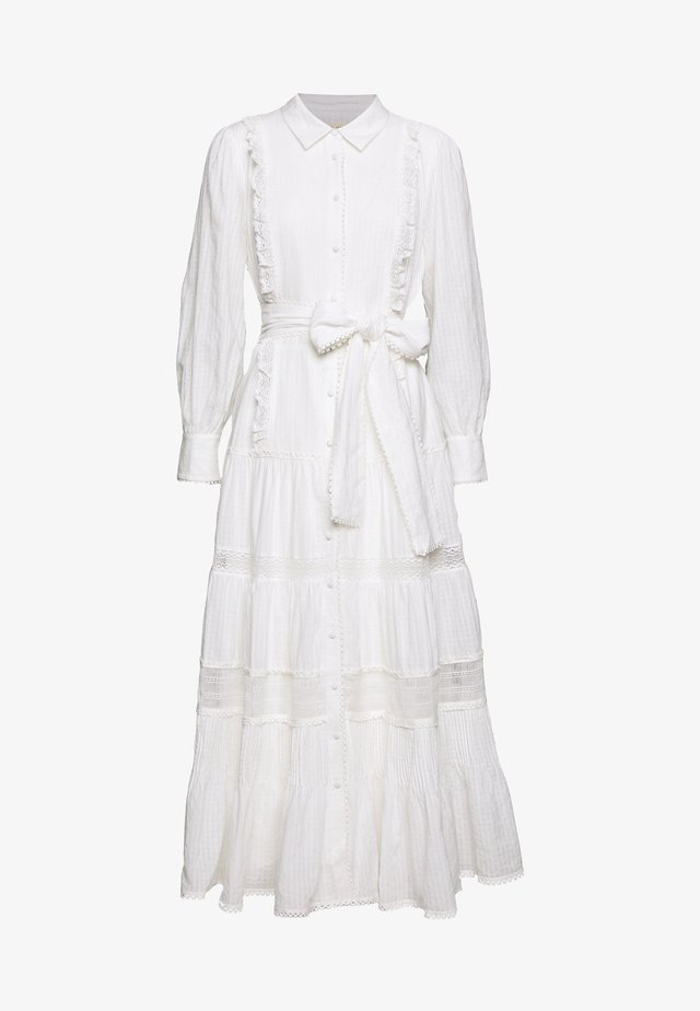 SOFTLY MIDI DRESS - Shirt dress - white