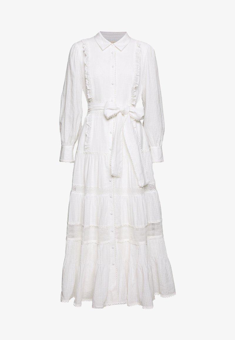 Stevie May - SOFTLY MIDI DRESS - Shirt dress - white