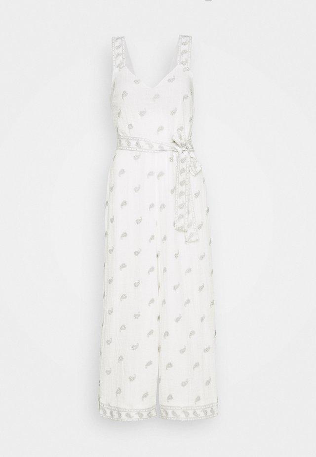 LILOU - Jumpsuit - white pearl paisley