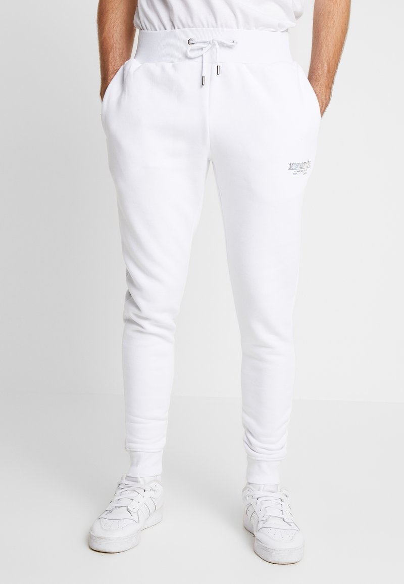 STEREOTYPE - METALIC - Teplákové kalhoty - white