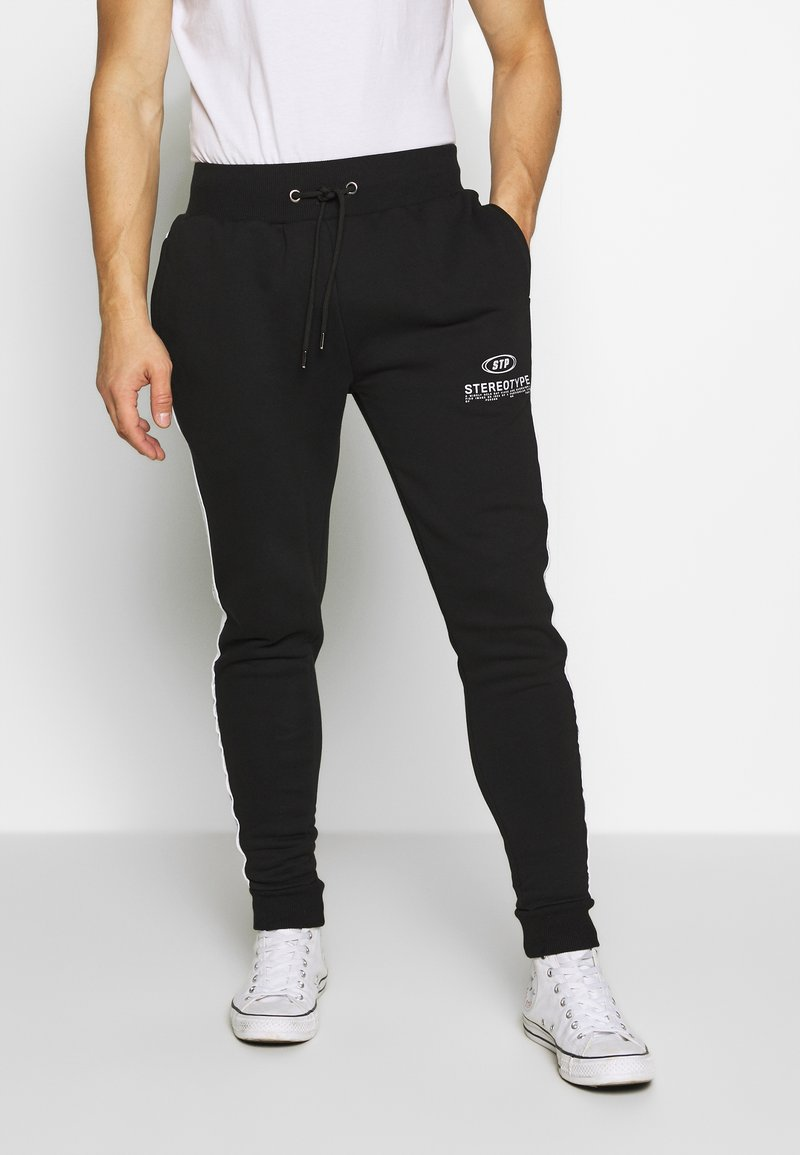 STEREOTYPE - CHROME  - Tracksuit bottoms - black