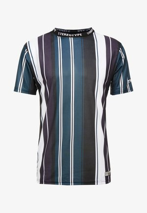 BIT RATE STRIPE TEE - T-shirts med print - black