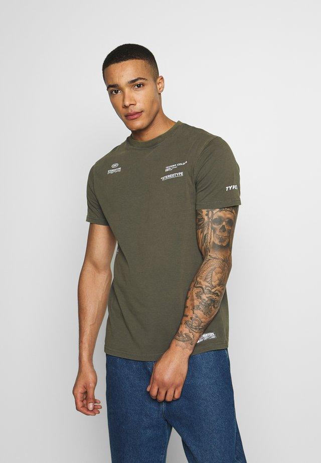 ACID TEE - T-shirt z nadrukiem - khaki