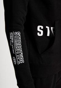 STEREOTYPE - TRANSMIT HALF ZIP - Sweatshirt - black - 5