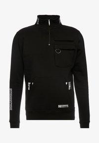 STEREOTYPE - TRANSMIT HALF ZIP - Sweatshirt - black - 6
