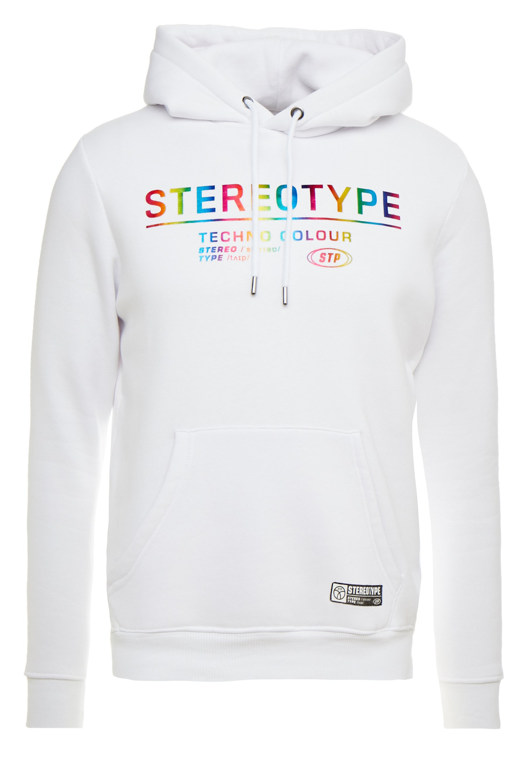 STEREOTYPE METALIC HOOD - Jersey con capucha - white