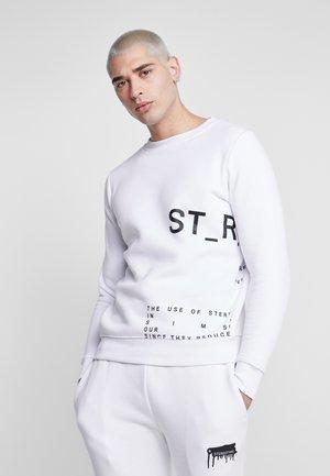 INSTRUSTIONS CREW - Sweatshirt - white