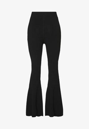 FLARE - Spodnie materiałowe - black