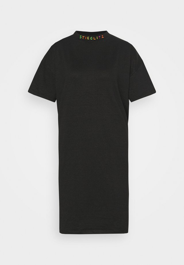 ALBA DRESS - Jerseyklänning - black