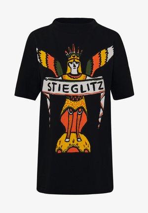 MARIA TEE - T-shirt z nadrukiem - black