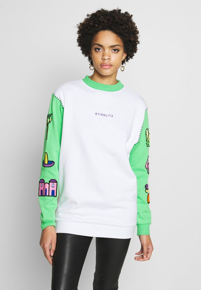 FER - Sweatshirt - green/white