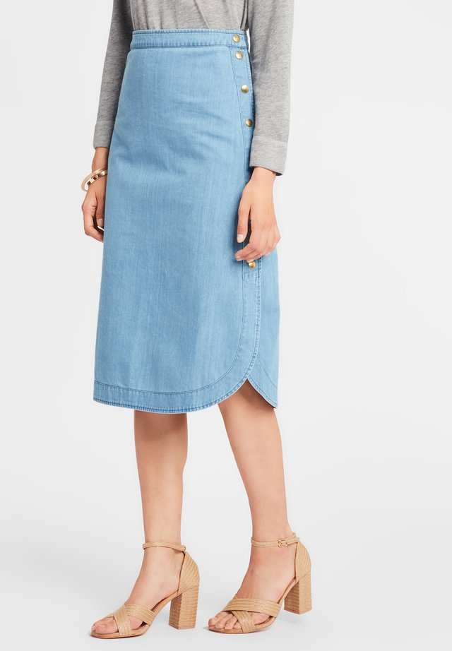VANESSA - Spódnica trapezowa - light blue