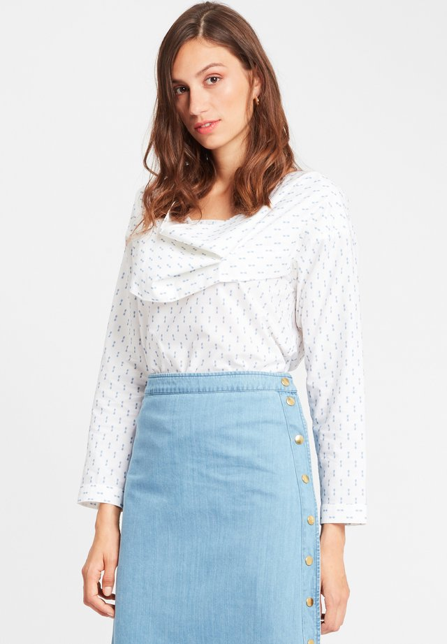 CELIA - Blouse - white blue