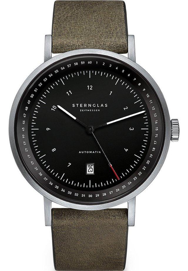 STERNGLAS HERREN-UHREN ANALOG AUTOMATIK - Watch - grün