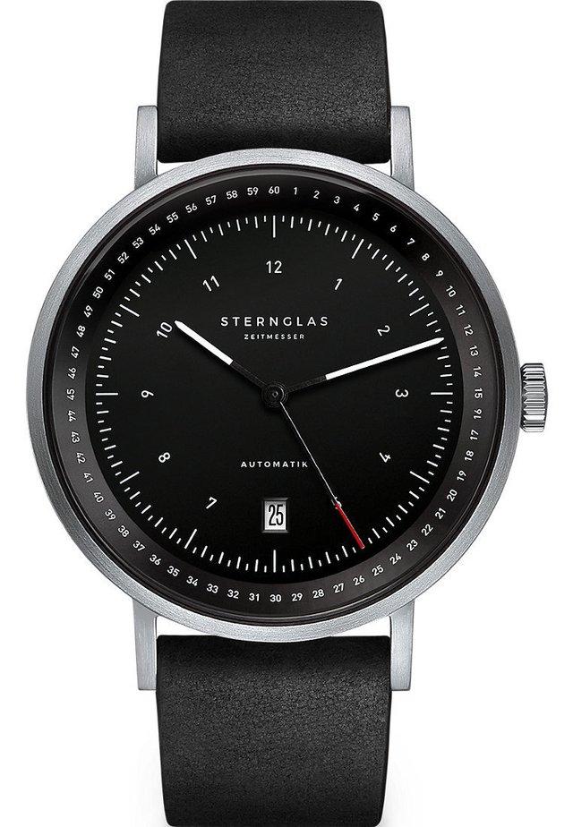 STERNGLAS HERREN-UHREN ANALOG AUTOMATIK - Watch - schwarz