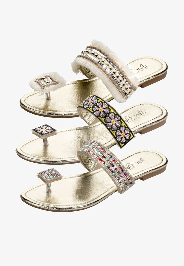 3in1 - T-bar sandals - gold