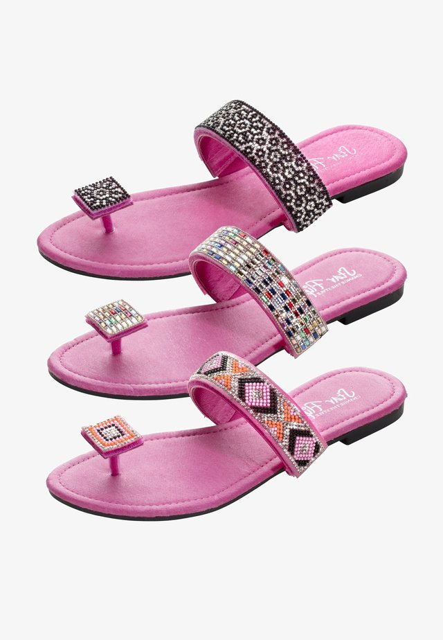 3in1 - T-bar sandals - pink