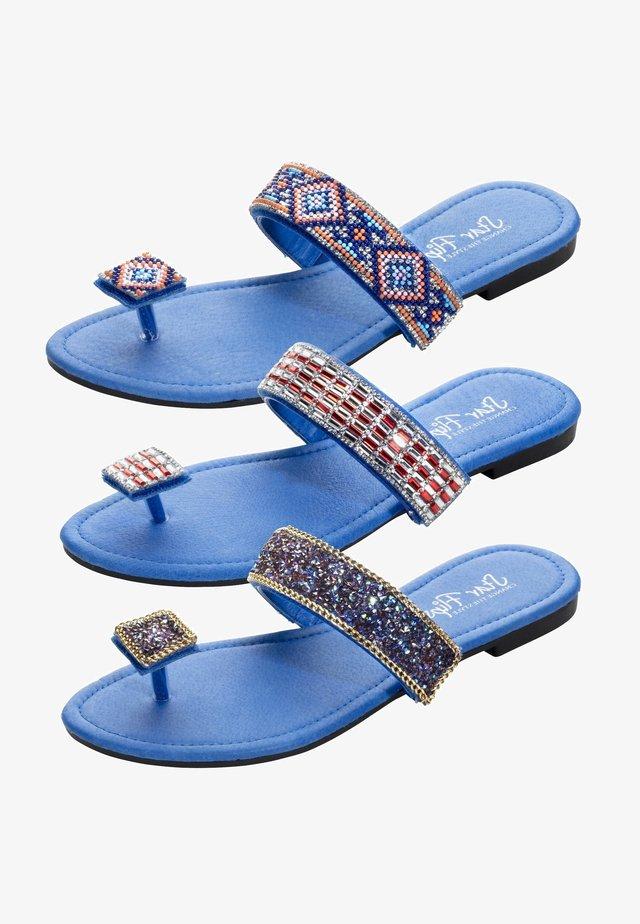 3in1 - T-bar sandals - blau