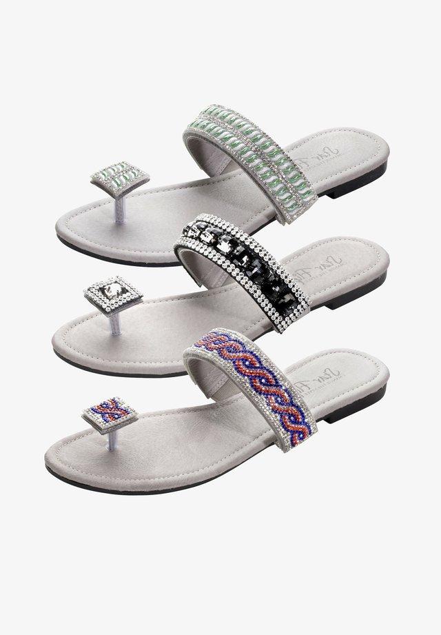 3in1 - T-bar sandals - grau