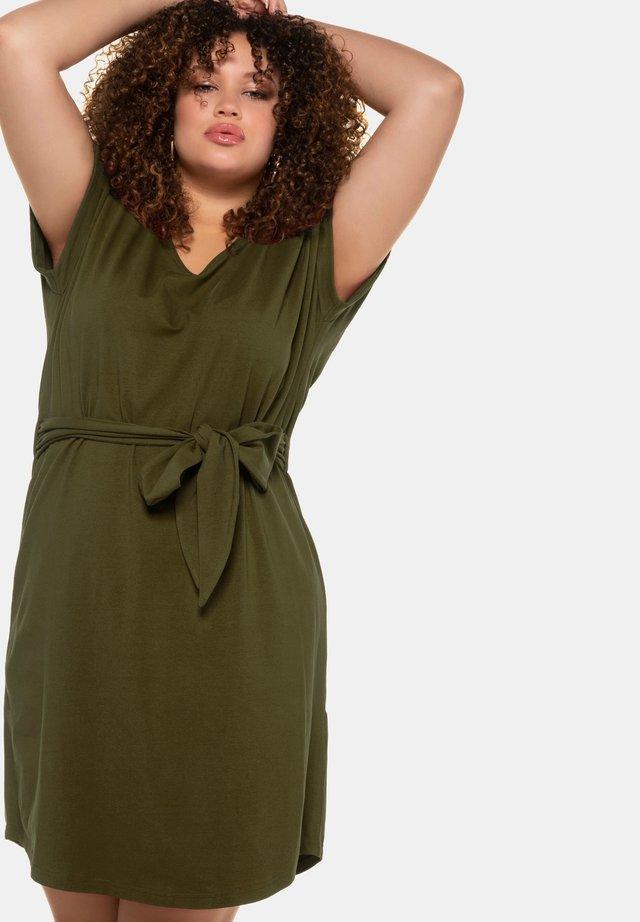 Jersey dress - dschungelgrün