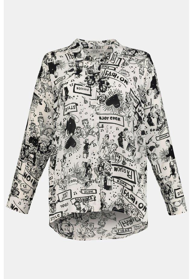 STUDIO UNTOLD DAMEN GROSSE GRÖSSEN COMIC BLUSE 747989 - Button-down blouse - weiß