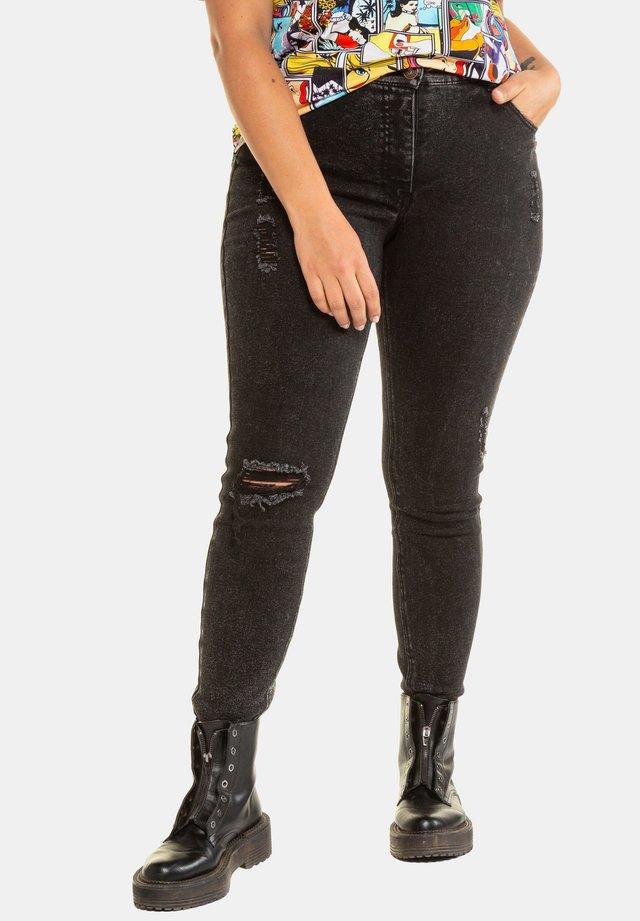 LEICHT DESTROYED - Jeans Skinny Fit - anthrazit-denim
