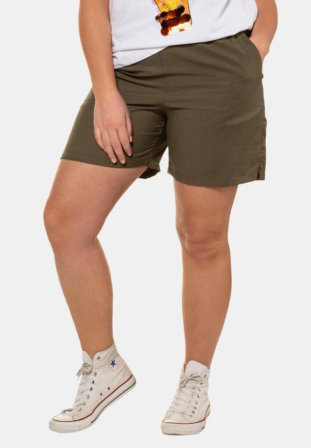 DAMEN GROSSE GRÖSSEN SHORTS 723073 - Shorts - dunkelkhaki