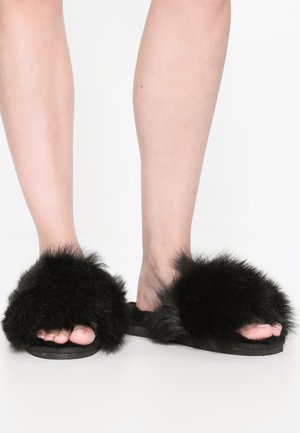 TESSAN - Pantoffels - black