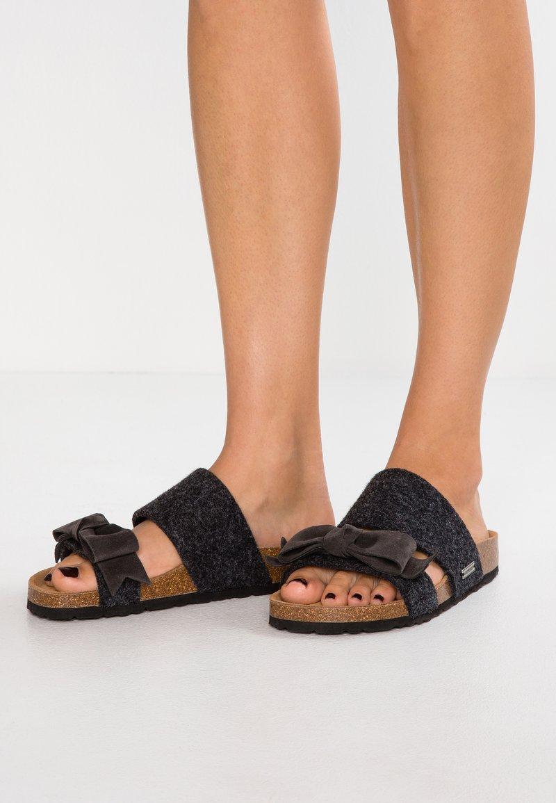 Shepherd - ELISABET - Slippers - black/graphite