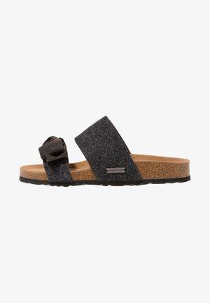 ELISABET - Pantoffels - black/graphite