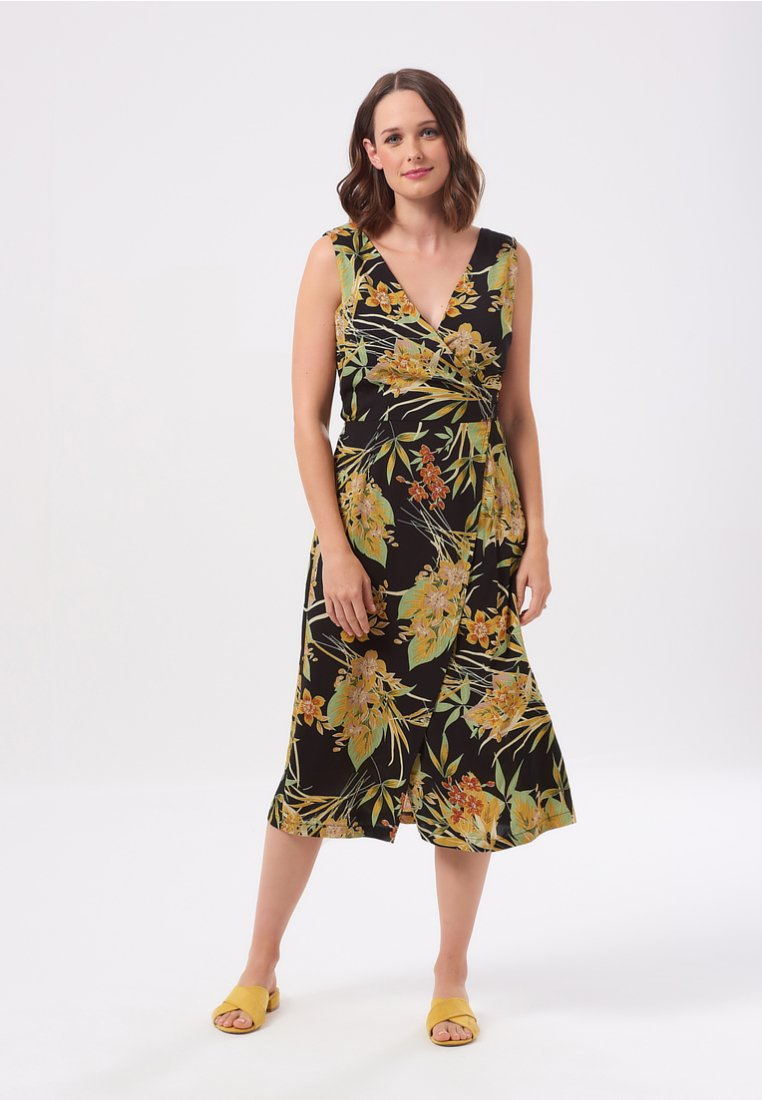 Sugarhill Brighton - ROISIN VINTAGE HAWAIIN  - Maxi dress - black