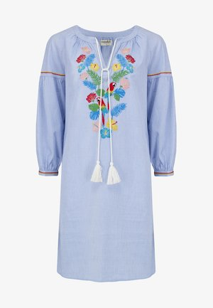 PARROTS PARADISE EMBROIDERED - Day dress - blue