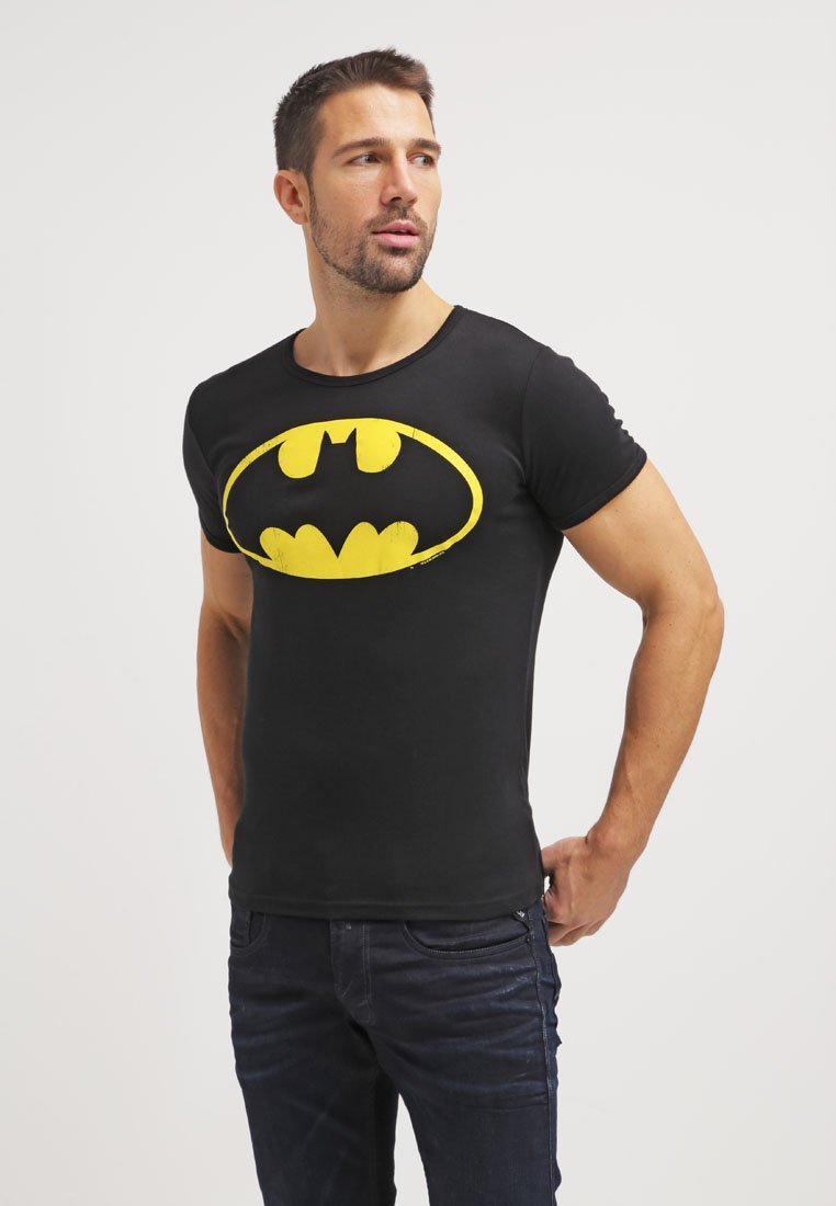 LOGOSHIRT - BATMAN - Print T-shirt - black