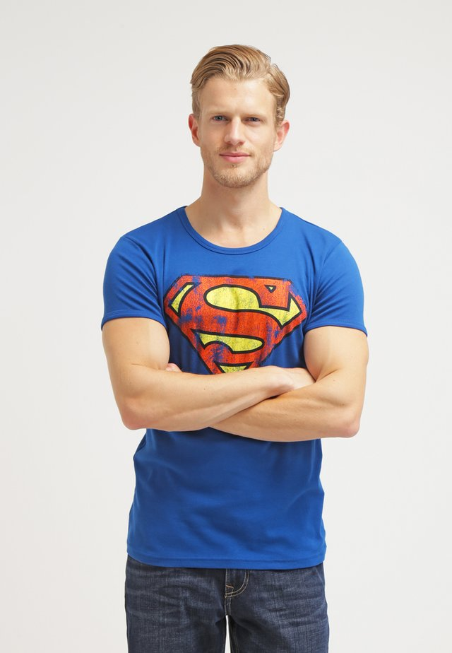 SUPERMAN - T-shirt print - azure blue